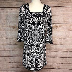 LOFT Petite Damask Shift Dress